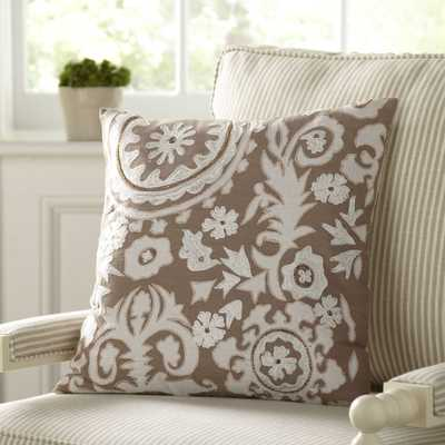 "Georgia Embroidered Pillow Cover -18''x 18""-Insert not included - Birch Lane"