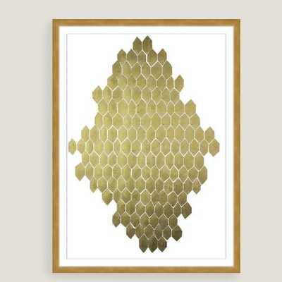 Golden Honeycomb by Kate Roebuck - 29x40 - Framed - World Market/Cost Plus