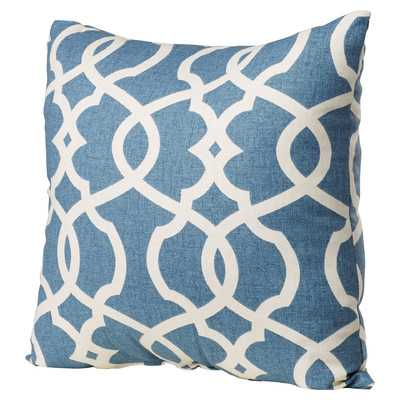 "Glostrup Cotton Throw 18"" Pillow -Blue-Polyester fill - Wayfair"