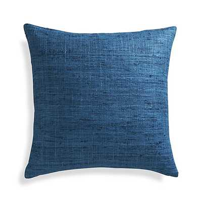 """Trevino Aegean Blue 20"""" Pillow with Feather-Down Insert - Crate and Barrel"""