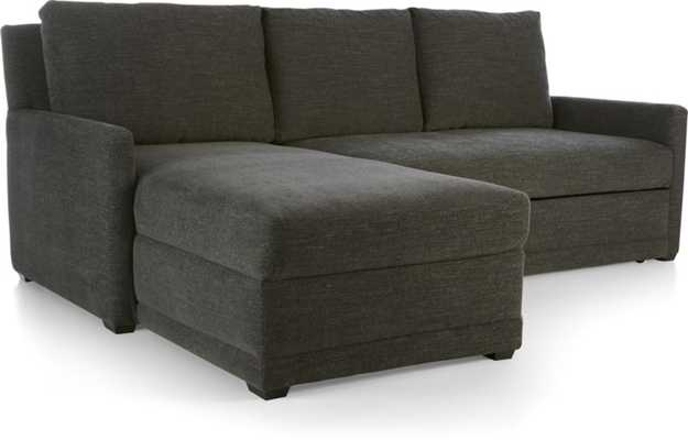 Reston 2-Piece Sectional Sofa-Charcoal - Crate and Barrel