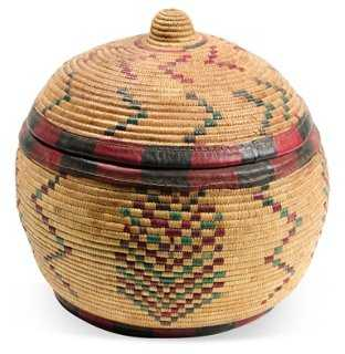 Baskets w/ Lid, Small - One Kings Lane