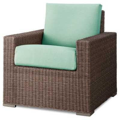 Heatherstone Wicker Patio Club Chair - Seafoam - Target
