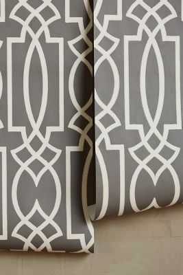 Canterbury Wallpaper - Grey - Anthropologie