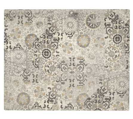 Talia Printed Rug - Gray - 8' x 10' - Pottery Barn