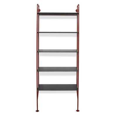 Hitch Bookshelf Starter Kit - FLW Red w Smoke Shelves - Domino