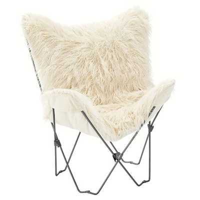 Furlicious Faux Fur Butterfly Chair Slipcover + Base - Pottery Barn Teen