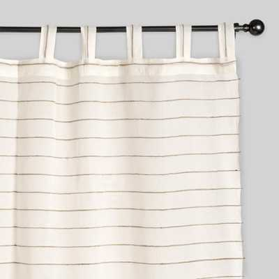 "Ivory Striped Sahaj Jute Curtains, Set of 2-  45"" x 96"" - World Market/Cost Plus"