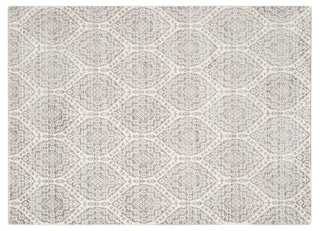 Asima Rug, Mauve/Cream - One Kings Lane
