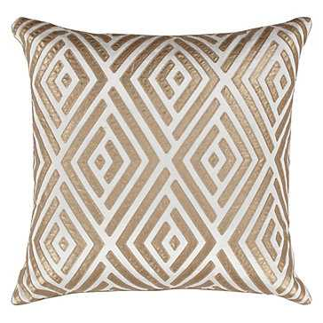"Maestro Pillow 24"" - Gold - Feather/Down insert - Z Gallerie"