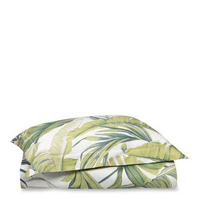 Tropical Leaf Duvet, King, Green - Williams Sonoma
