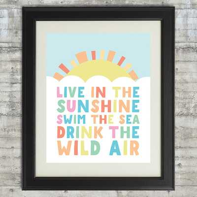 Live in the sunshine Art - Etsy