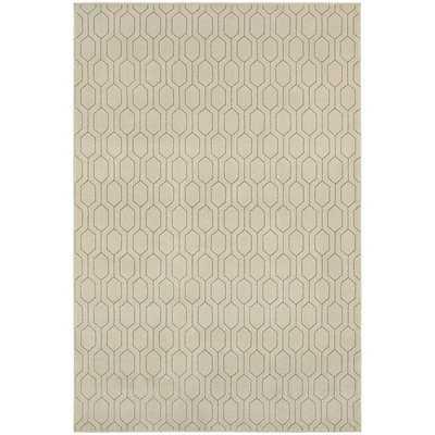 Geometric Lattice Heathered Ivory/ Grey Area Rug (9'10 x 12'10) - Overstock
