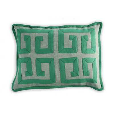 Burgos Greek Key Linen/Cotton Lumbar Pillow - AllModern