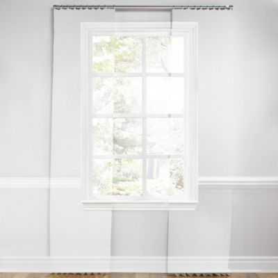 """Light tan & white scroll pleated curtain - 32""""W x 96""""L - Loom Decor"""
