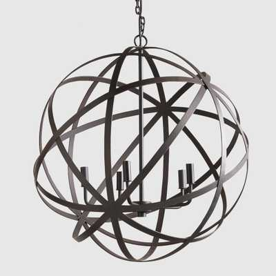 Large Metal Orb Chandelier - World Market/Cost Plus