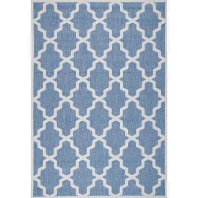 nuLOOM Alexa Moroccan Trellis Indoor/ Outdoor Blue Rug (6'3 x 9'2) - Overstock
