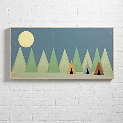 "Little Tents Big Dreams Wall Art - 36""x18"" - Framed - Land of Nod"
