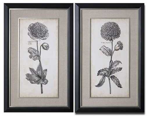 "SINGULAR BEAUTY FRAMED WALL ART - SET OF 2 - 50""H x 32""W - Home Decorators"