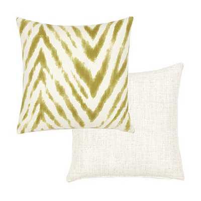 "Wilde Pillow - Chartreuse - feather-down insert - 18"" Square - Ballard Designs"