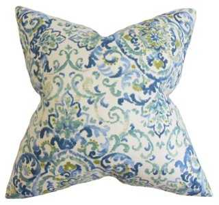 Quentin 18x18 Pillow, Blue - One Kings Lane