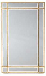 "22""x36"" Inlay Frame Mirror, Gold/Clear - One Kings Lane"