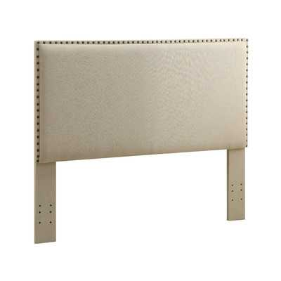Contempo Upholstered Full/Queen Headboard - Natural - Wayfair