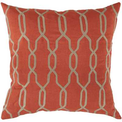 Glamorous Geometric Linen Throw Pillow, 18''SQ./Insert included - AllModern