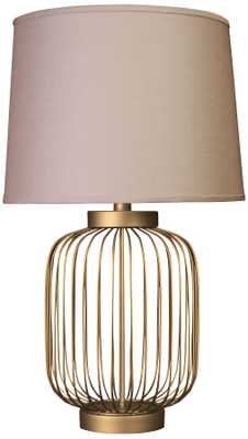 Idalia Dull Gold Small Wire Cage Accent Table Lamp - Lamps Plus