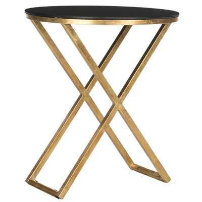 Safavieh Riona End Table - Gold / Black - Wayfair