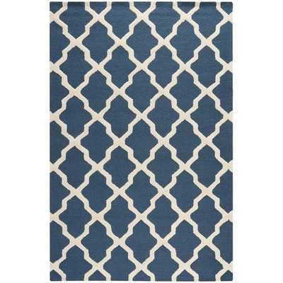 Safavieh Handmade Moroccan Cambridge Blue Wool Rug - Overstock