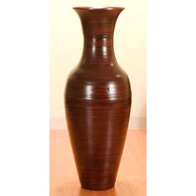 36-inch Bamboo Tall Floor Vase - Overstock