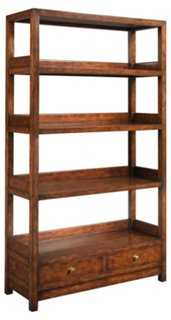 "La Grange 76"" Bookcase, Sienna/Honey - One Kings Lane"