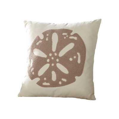 Sand Dollar Ocean Pillow Cover, 18''Sq/insert not included - Wayfair