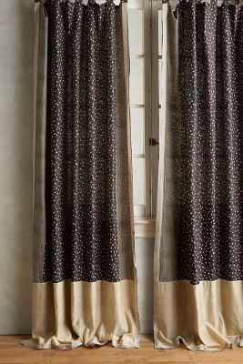 """Speckled Silk Curtain-96 """" - Anthropologie"""