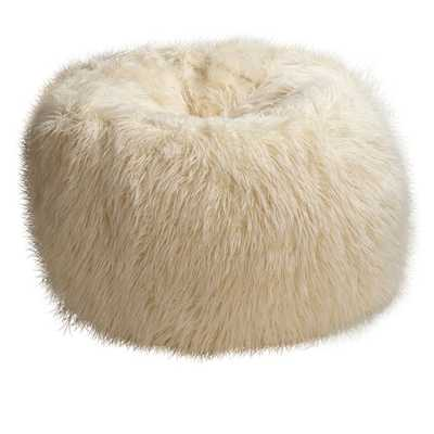 Ivory Furlicious Faux Fur Beanbag - Slipcover and Insert - Small - Pottery Barn Teen