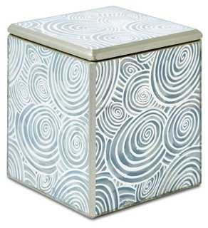 Swirl Canister, Ivory - One Kings Lane