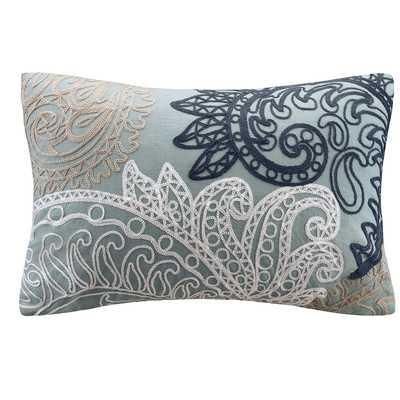 Kiran Embroidered Cotton Lumbar Pillowby Ink + Ivy - Wayfair