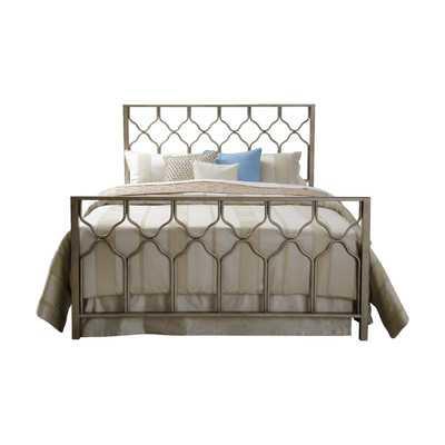 Honeycomb Platform Bed - Brushed Gold - King - Wayfair