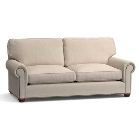 Webster Upholstered Sofa with Nailheads Collection - Pottery Barn