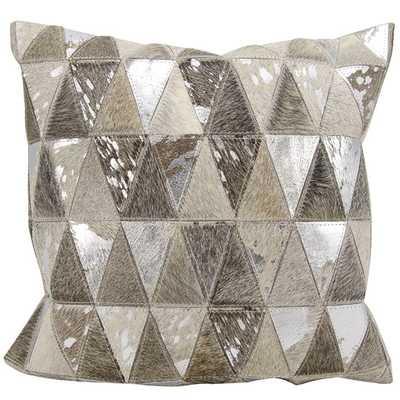 Natrual Leather Hide Throw Pillow - AllModern