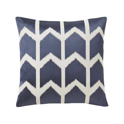 "EMERY PILLOW- 20"" H x 20"" W- Marine- DOWN/FEATHER PILLOW INSERT - Dwell Studio"