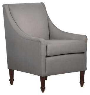 Holmes Accent Chair, Gray - One Kings Lane