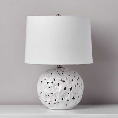 Pressed Petals White Table Lamp - Land of Nod