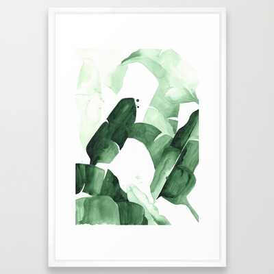 "FRAMED ART PRINT	/ VECTOR WHITE LARGE (GALLERY) (26"" X 38"") - Society6"