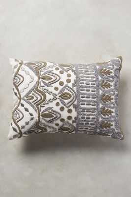 """Textured Ivory Pillow - 14"""" x 20"""" - Polyfill - Anthropologie"""