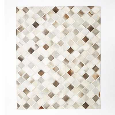 Pieced + Patched Cowhide Rug - Diamond - 8' x 10' - West Elm
