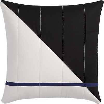 """Quilted 101 18"""" pillow with feather-down insert - CB2"""