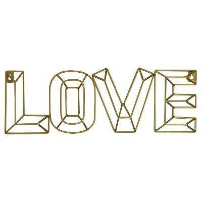 LOVE Wall Décor - Pillowfort™ - Target