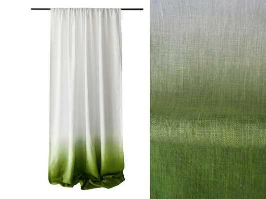 """Dip dye linen curtain - Unlined - 96"""" - Etsy"""